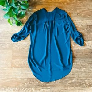 Lush Tops - Lush like-new flowy high low blouse in teal